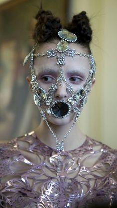 by Hope Von Joel, Fashion Stylist inbar spector, masks lara jensen. sorry, but I find this weird & disturbing. Manequin, Face Jewellery, Emo Scene, Foto Art, Dark Fashion, Crazy Fashion, High Fashion, Mode Inspiration, Headgear