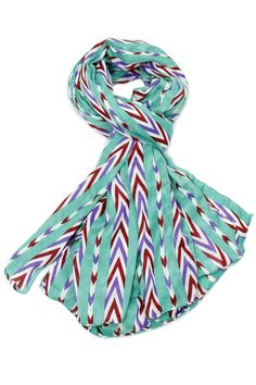 Before you juggle your warm weather wardrobe try diversifying your present pieces with summer scarves. Just one quirky tied scarf can make trending outfit look and feel brand new!  Size: 70'' x 43''  Candy Stripe Scarf by Violet Del Mar. Accessories - Scarves & Wraps San Diego California