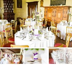 Hochzeit von Sonja und Frank im Schloss Ernegg Table Settings, Table Decorations, Furniture, Home Decor, Pictures, Getting Married, Decoration Home, Room Decor, Place Settings