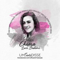 Beata Chiara Luce🖤 Statues, Catholic Saints, Holy Family, Marie, Blessed, Sisters, God, Movie Posters, Patron Saints