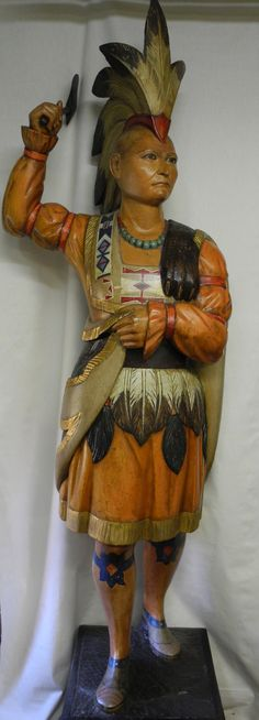 John L. Cromwell (1805-1873)   Cigar Store Indian with Hatchet