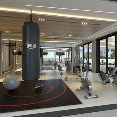 Tv Installation Home Gym Design Ideas, Pictures, Remodel & Decor ...