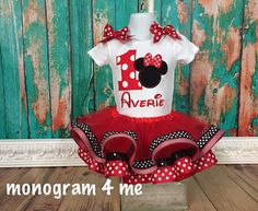 Hey, I found this really awesome Etsy listing at https://www.etsy.com/listing/226732649/birthday-minnie-mouse-tutu-outfit-1st