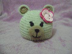 Gorro Ursinha em Crochê para Bebê   Ateliê Artes da Dani   Elo7