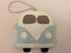 A personal favorite from my Etsy shop https://www.etsy.com/listing/229330653/blue-campervan-felt-decoration