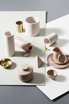 Pink terrazzo objects | T.D.C: ZAKKIA | 2016 Collection 02