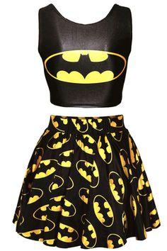 Batman+imprimé+Skater+cercle+jupe+robepas+Batman+par+Summersonic,+$15.90