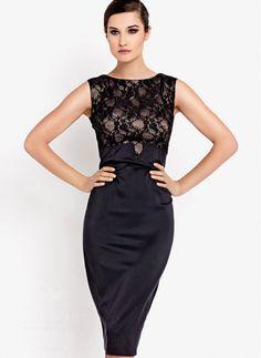 dabf58b437 Sukienka Classic Style Black Dress Corsage