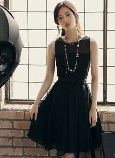 2015 Homecoming Dress Stylish Lady Women s Casual New Fashion party  Sleeveless Chiffon O-neck Dress d274ded8e229