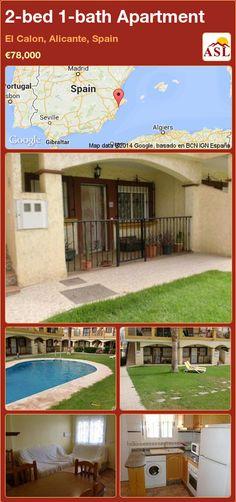 2-bed 1-bath Apartment in El Calon, Alicante, Spain ►€78,000 #PropertyForSaleInSpain