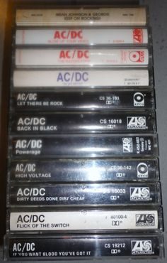 11 AC/DC cassette tape LoT vintage music by VintageTrafficUSA, $43.50