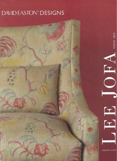 Pretty fabric for an arm chair or two in the family room Ikea Furniture Hacks, Small Bedroom Furniture, Furniture Ads, Couch Furniture, Wingback Chair, Armchair, Magazine Design Inspiration, Lee Jofa, Textiles