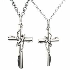 Fashion 316l Stainless Steel Lingering Love Cross Couples Pendant Necklace (Lover's Gift, One Pair & Single Item Selectable) (Men&women's Pendants) Tungsten Love. $21.99. Weight: 11.7g for Male; 4.5g for Female. Chain Length: 55cm. Fashion 316L Stainless Steel Lingering Love Cross Couples Pendant Necklace. Pendant length: 50mm for Male; 37mm for Female. Material: 316L Stainless Steel