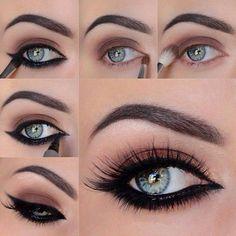 Maquillaje de ojos oscuro. Make up smokey eye