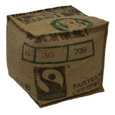 """Pouf en 100% toile de jute """"Fair Trade"""" Lilokawa pour Cabane Indigohttp://www.cabaneindigo.com/poufs-et-tabourets/428-pouf-100-toile-de-jute.html"""
