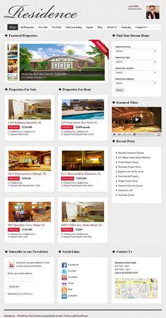 Residence WordPress Theme - Gorilla Themes