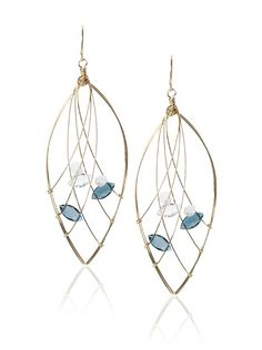 Misha London Blue Topaz Web Marquis Earrings at MYHABIT