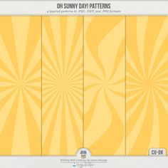 Quality DigiScrap Freebies: Oh Sunny Day! Patterns freebie from Wishing Well Creations