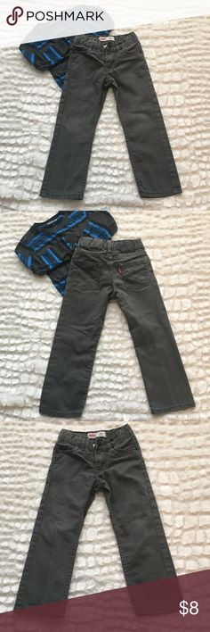 💎Boys Levi's 4 regular 511 slim gray jeans Boys Levi's size 4 regular 511 slim gray jeans. With belt loops. Adjustable waist. Front zipper and clasp fastener. 2 pockets in the front and 2 in the back. Good condition Levi's Bottoms Jeans