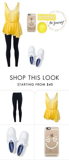 """""""Be yourself👸🏻"""" by harleen7177 ❤ liked on Polyvore featuring NIKE, Made by Niki, Keds, Casetify and River Island"""