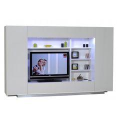 Unité mural TV ultra design coloris blanc
