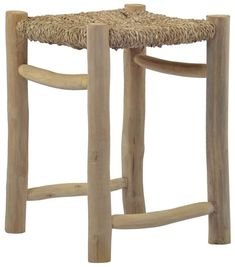 Schiller Solid Wood Utility Stool