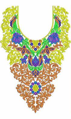 Classy Fashion Dresses Neck Embroidery Design