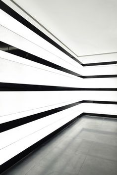 backlight black and white stripe walls