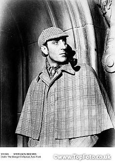 SHERLOCK HOLMES. Basil Rathbone (1892-1967). English actor. In the role of 'Sherlock Holmes'.
