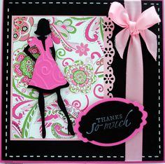 Cute Pink Girly Card