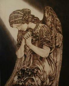 """""""Eternity"""" 2016 Pirografia su pioppo 55x75"""
