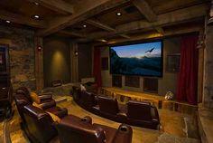 Home theater- hubby's dream basement! ;)