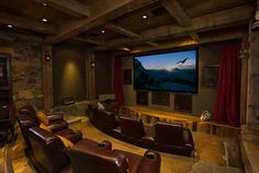 Home theater- hubby's dream basement! ;)