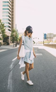 f5738c07fb5 Ready for summer  Christine Andrew certainly is in this chambray dress