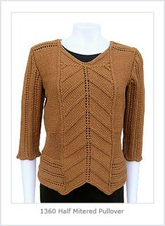 1360 by helenerush, via Flickr; Helene Rush mitered pullover on Ravelry