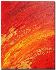 Orange Abstract Painting Yellow Art Gold Artwork by Terrance gallery Abstract Landscape Painting, Abstract Portrait, Abstract Canvas, Oil Painting On Canvas, Canvas Art, Textured Painting, Canvas Ideas, Canvas Paintings, Landscape Paintings