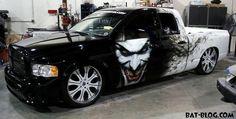 Bad Ass Paint job, Joker smoke and flames. BAT - BLOG : BATMAN TOYS and COLLECTIBLES: THE JOKER - Custom Truck Paint Job