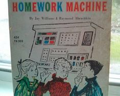 Vintage 1960s 60s Danny Dunn and the Homework Machine Illustrated Paperback Book, Pre-teen Junior Middle School, Scholastic