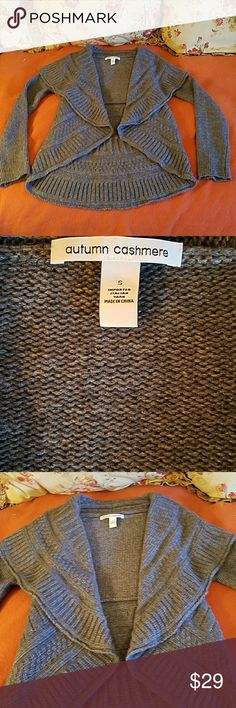 AUTUM CASHMERE SWEATER AUTUM CASHMERE SWEATER WORN ONCE SIZE SM GREY GOOD CONDITION  BEAUTIFUL AUTUM CASHMERE Sweaters Shrugs & Ponchos