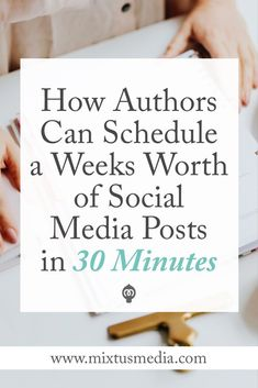 I'll show you how authors can save a ton of time scheduling posts on social media all while growing your audience and seeing bigger results. Book marketing strategies, book marketing tips, social media tips for Facebook Marketing, Online Marketing, Social Media Marketing, Marketing Ideas, Marketing Strategies, Digital Marketing, Marketing Guru, Marketing Logo, Marketing Opportunities
