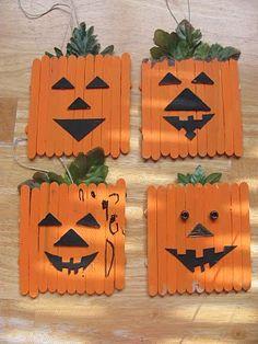 Jack-o-lantern magnets