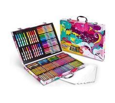 Crayola Inspiration Art Case Pink Portable Art Studio 140 Art & Coloring Supplies Art Gift for Kids 4 & Up in Convenient Graphic Travel Case Great for The Artist On-The-Go Hours of Creative Fun Easter Gifts For Kids, Cool Gifts For Kids, Gifts For Girls, Crayola Art Set, Art Case, Seashell Crafts, Pink Art, Crayons, Art Supplies