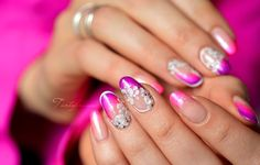 nail art rose fleur 3d