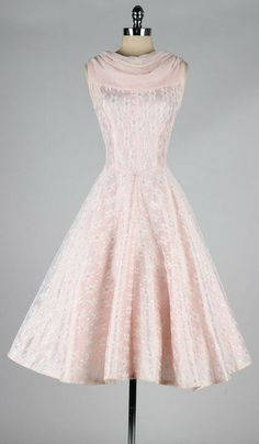 Vintage pink chiffon