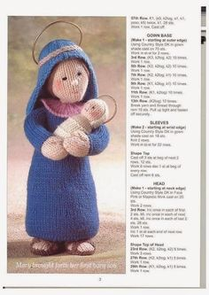 The Nativity Collection - Christmas crochet - Muscaria Amanita - Picasa Web Albums Knitted Christmas Decorations, Crochet Christmas Gifts, Christmas Knitting Patterns, Knitting Patterns Free, Christmas Nativity, Noel Christmas, Christmas Crafts, Knitted Dolls, Crochet Dolls