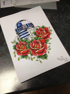 """Saatchi Art Artist Donna Garfoot; Drawing, """"R2D2 Rose"""" #art"""