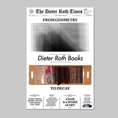 from geometry to decay Dieter Roth, Artist Project, Modern Masters, Decay, Geometry, Book Art, Catalog, Books, Libros