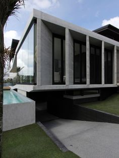 Underground Concrete Homes with Underground Garage Open