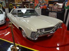 Natalie Wood's Buick Rivera.  Natalie bought this car right after her divorce with Robert Wagner.  It is on display at the Volo Auto Museum, Volo, IL.   www.volocars.com