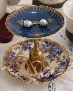 Jewellery Dish from upcycled bone china plates
